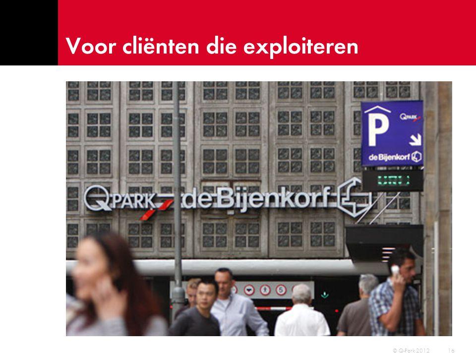 Voor overheden die reguleren … 17 © Q-Park 2012