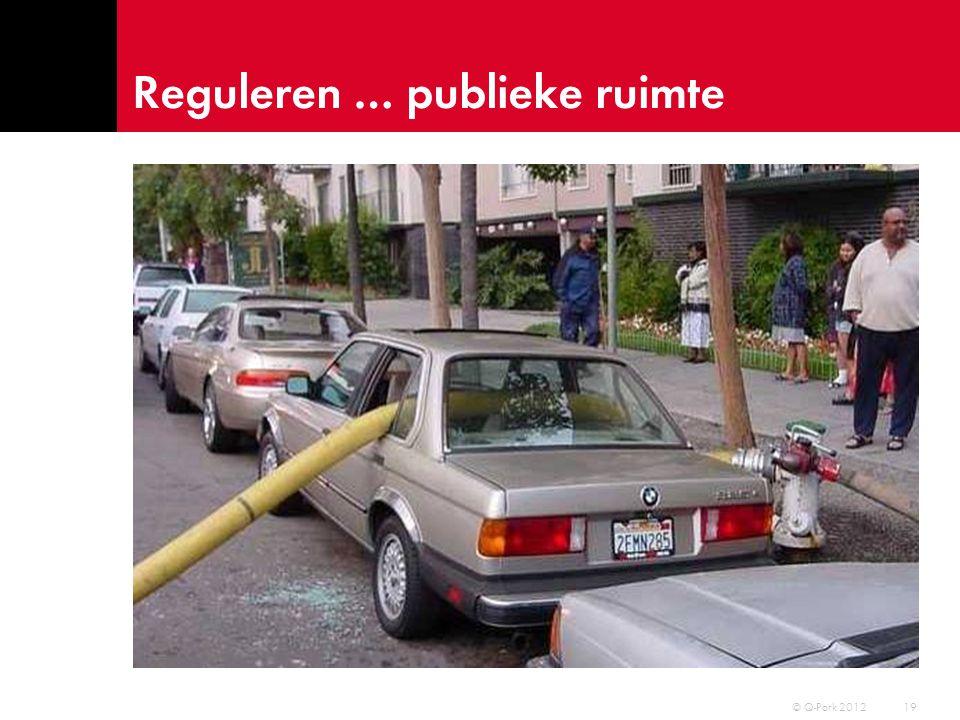 Reguleren … gebruikers © Q-Park 2012 20