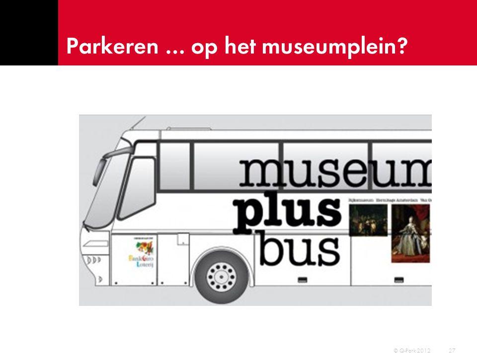 Parkeren … onder het plein 28 © Q-Park 2012