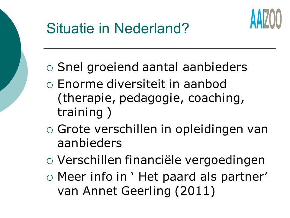 Situatie in Nederland.