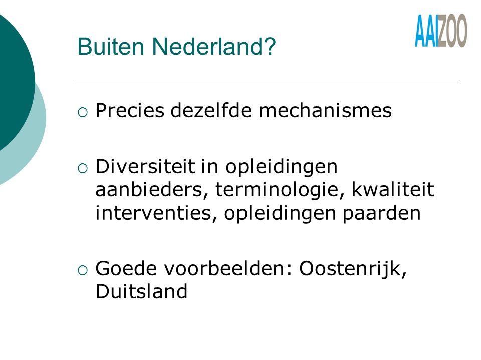 Buiten Nederland.