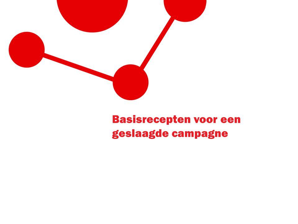 Basisrecepten voor een geslaagde campagne