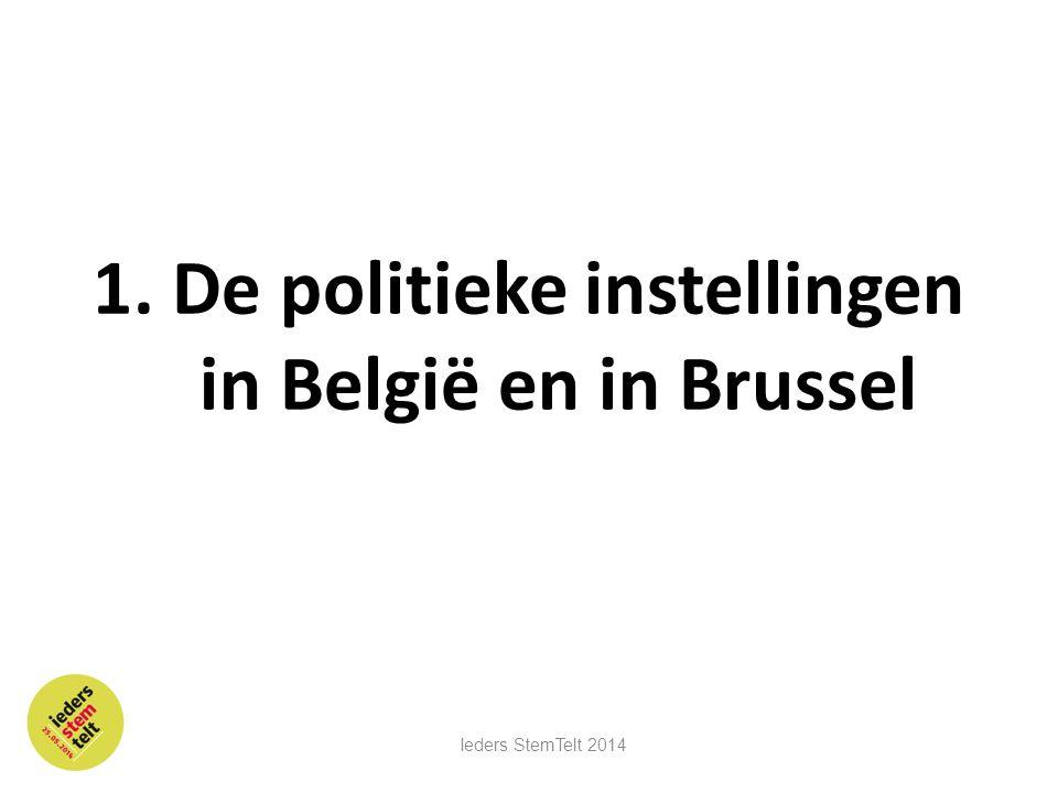 1. De politieke instellingen in België en in Brussel Ieders StemTelt 2014