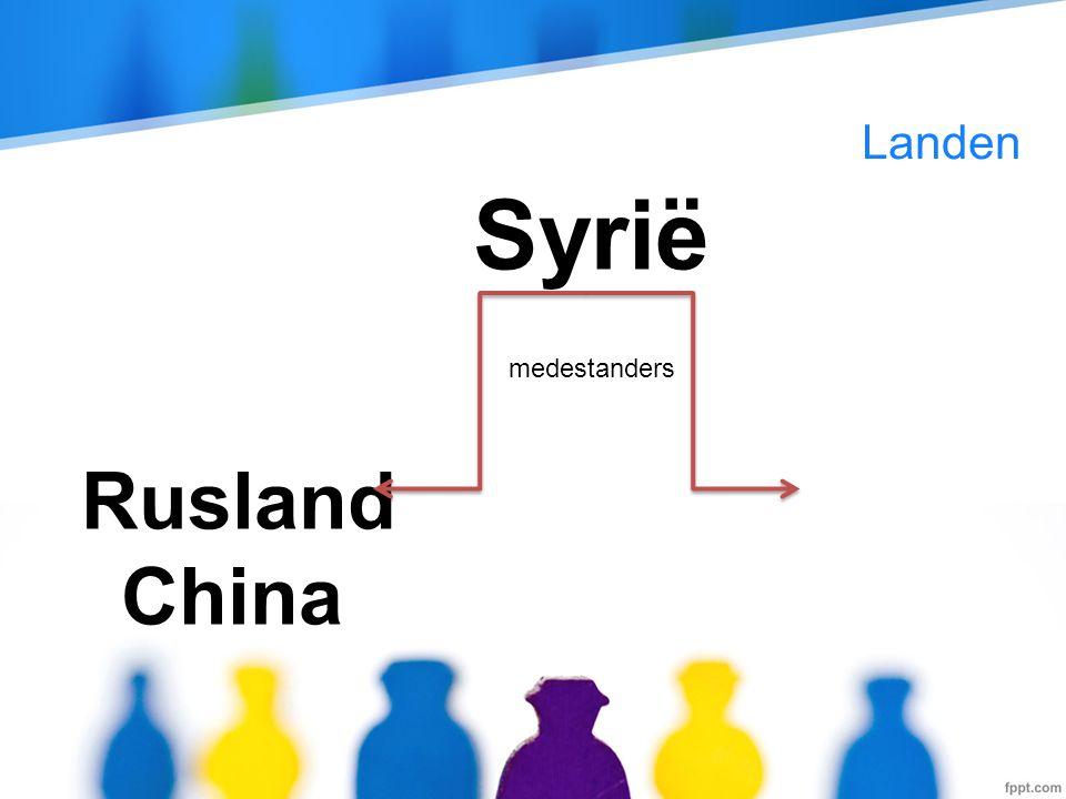 Landen Syrië Rusland China medestanders