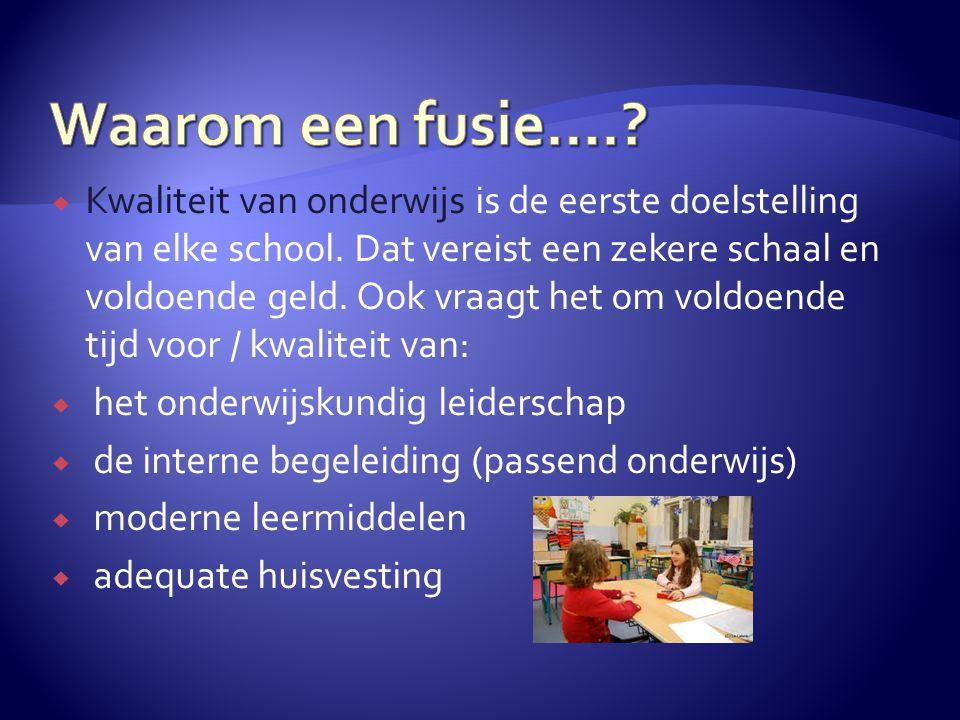  Kwaliteit van onderwijs is de eerste doelstelling van elke school.