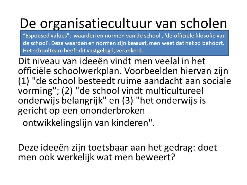 Schoolcultuur in verandering… Beïnvloedt een schoolreglement de cultuur.
