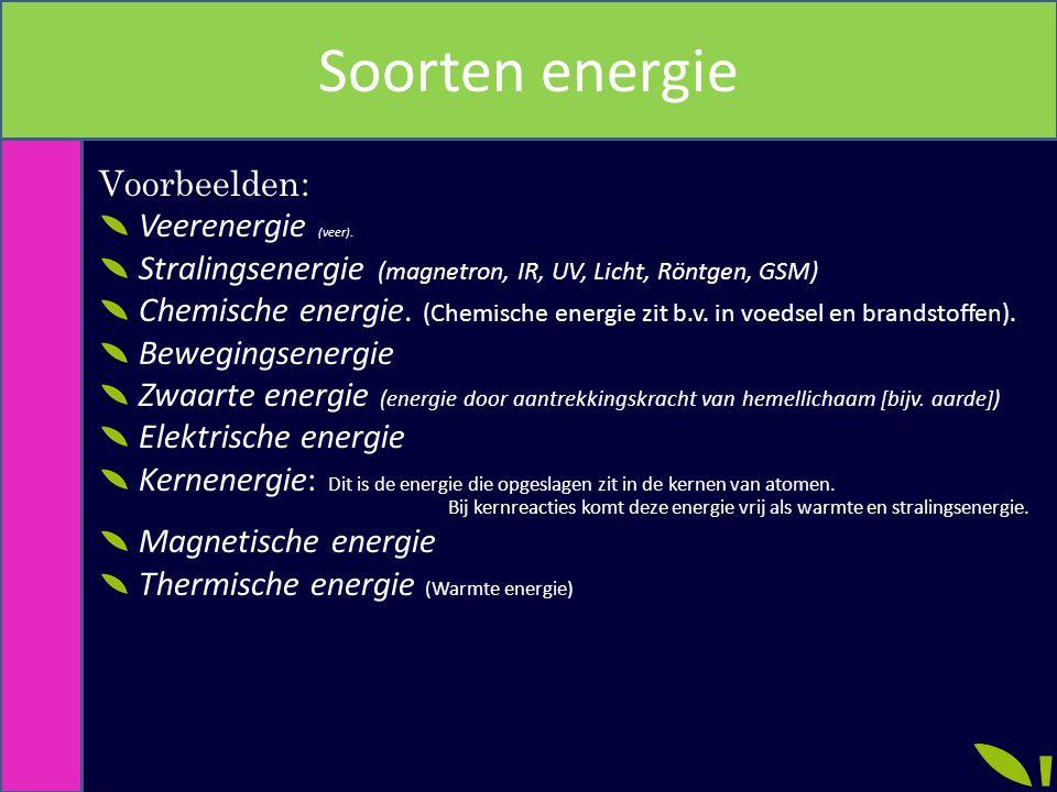 Soorten energie Voorbeelden: Veerenergie (veer).