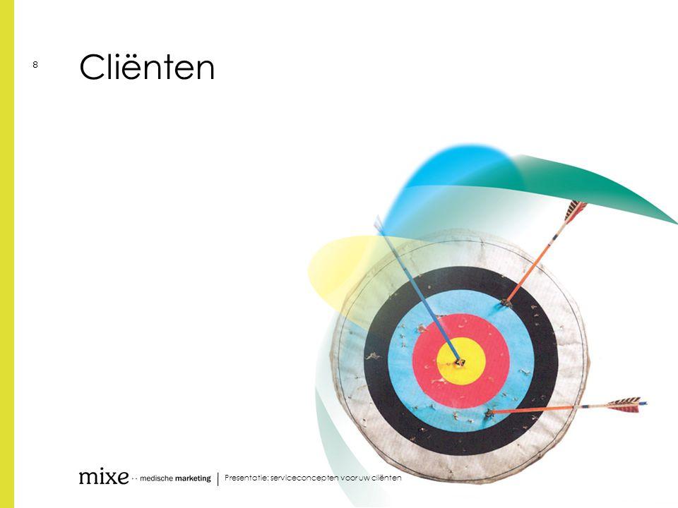 Presentatie: serviceconcepten voor uw cliënten 29 Cost to the client | even een drempel over…