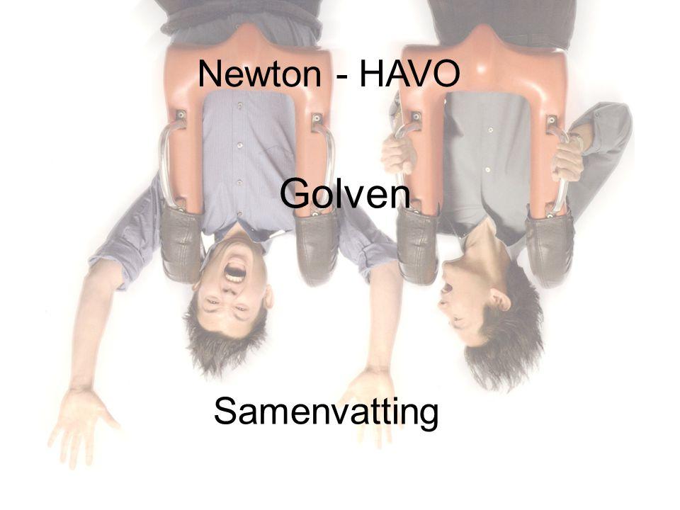 Newton - HAVO Golven Samenvatting