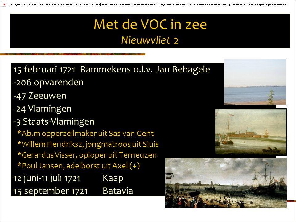 Met de VOC in zee Nieuwvliet 2 15 februari 1721 Rammekens o.l.v.