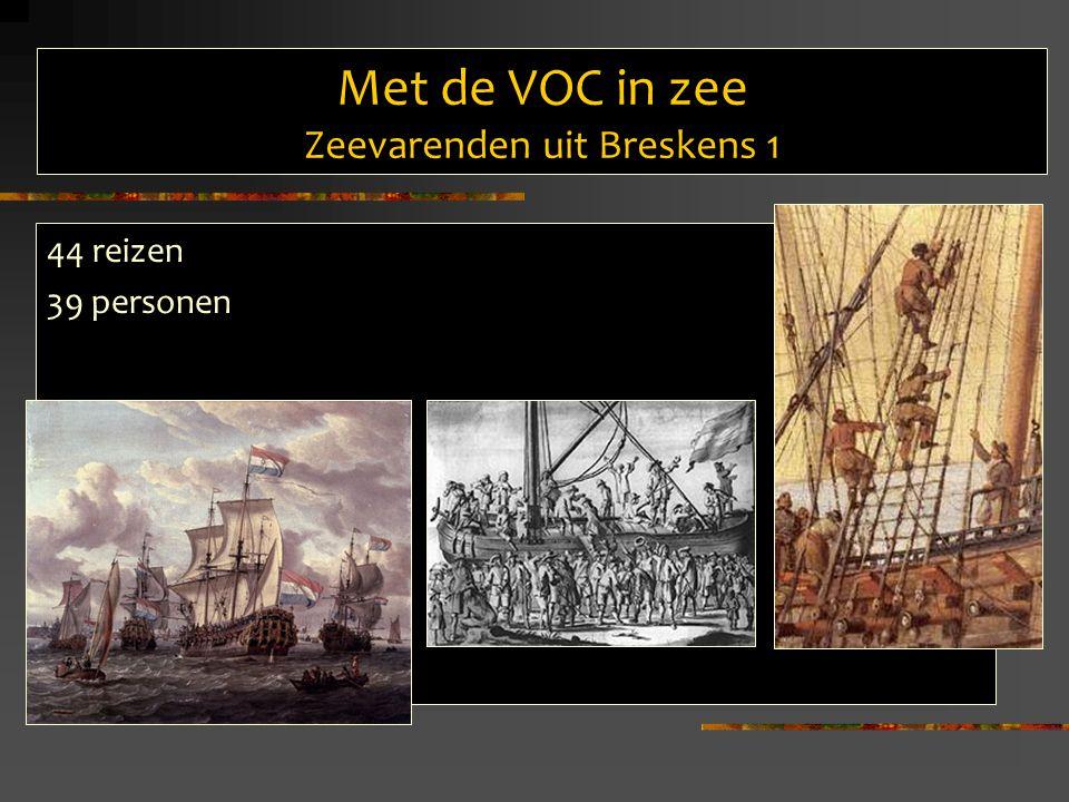 Met de VOC in zee Zeevarenden uit Breskens 2 PeriodeAantal 1700-17193 1710-17194 1720-17294 1730-17397 1740-17495 1750-17596 1760-17696 1770-17794 1780-17895