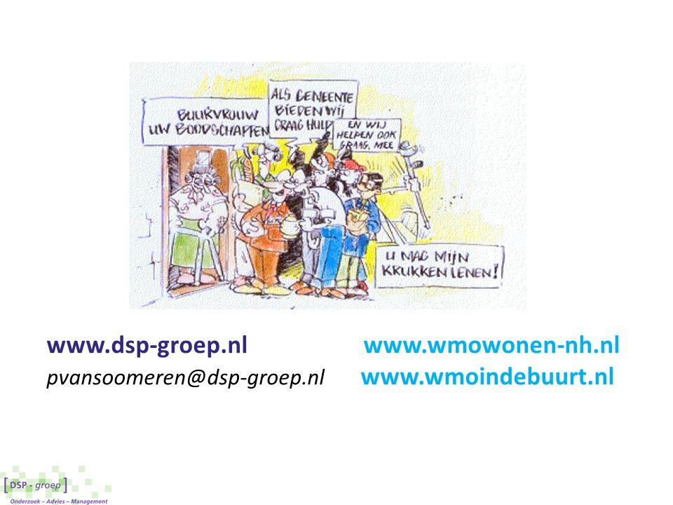 www.dsp-groep.nlwww.wmowonen-nh.nl pvansoomeren@dsp-groep.nl www.wmoindebuurt.nl
