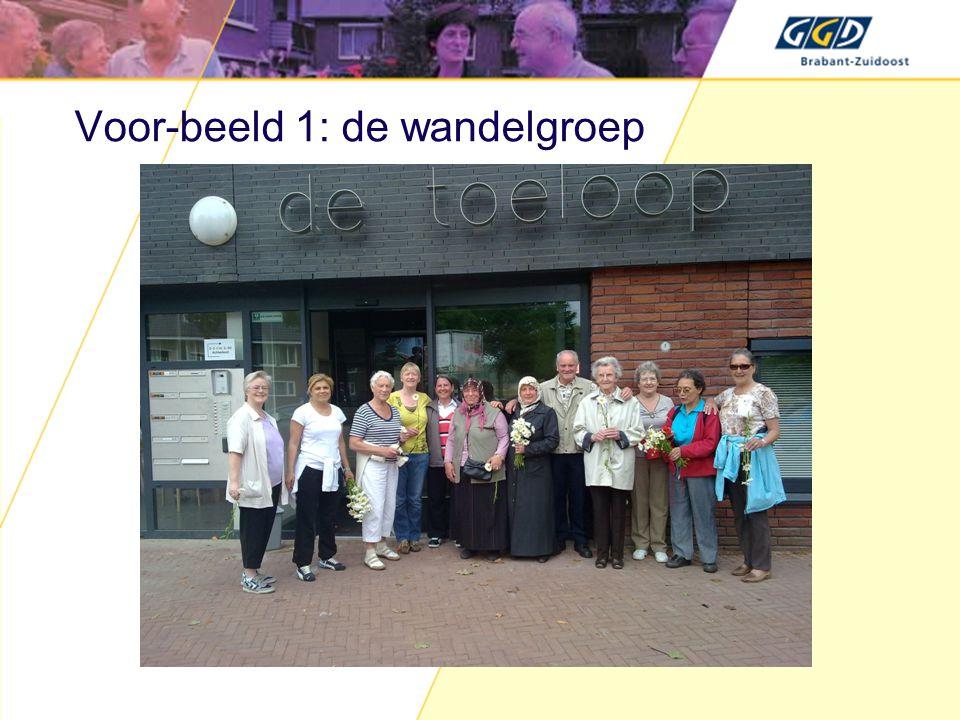 Voor-beeld 1: de wandelgroep