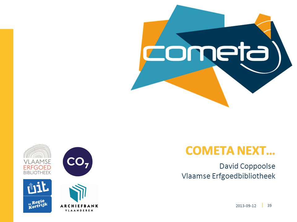 2013-09-12 39 | David Coppoolse Vlaamse Erfgoedbibliotheek COMETA NEXT…COMETA NEXT…