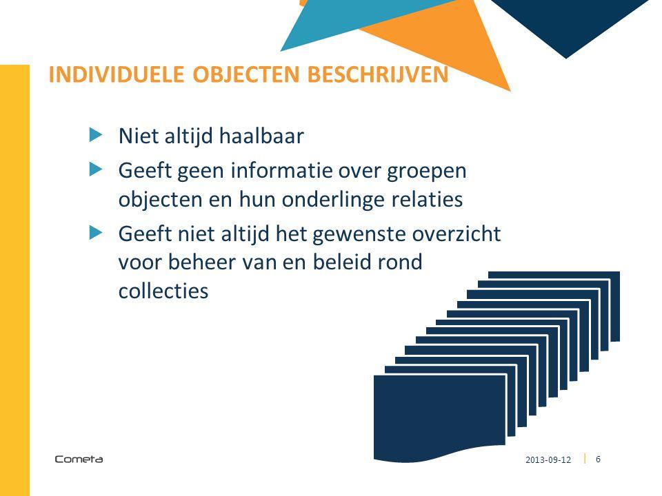 2013-09-12 27 | objectrecordcollectiegegevens Wordt gerelateerde registratie…