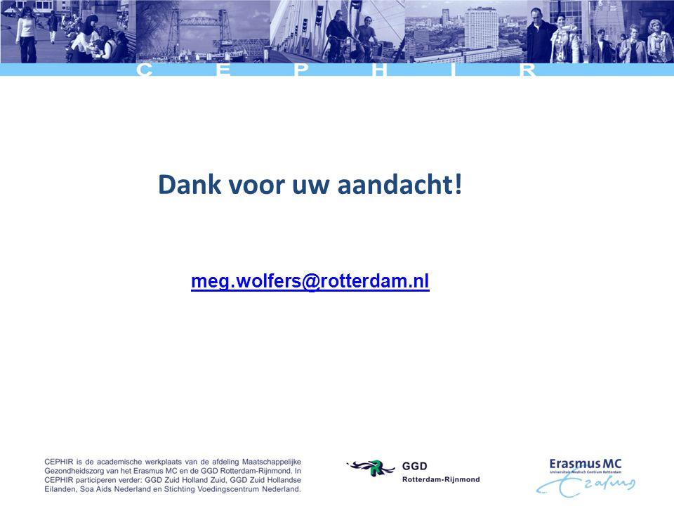 Dank voor uw aandacht! meg.wolfers@rotterdam.nl