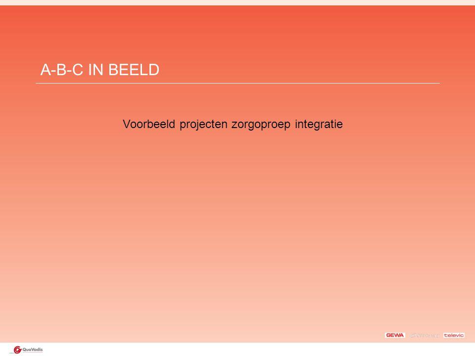 A-B-C IN BEELD Voorbeeld projecten zorgoproep integratie