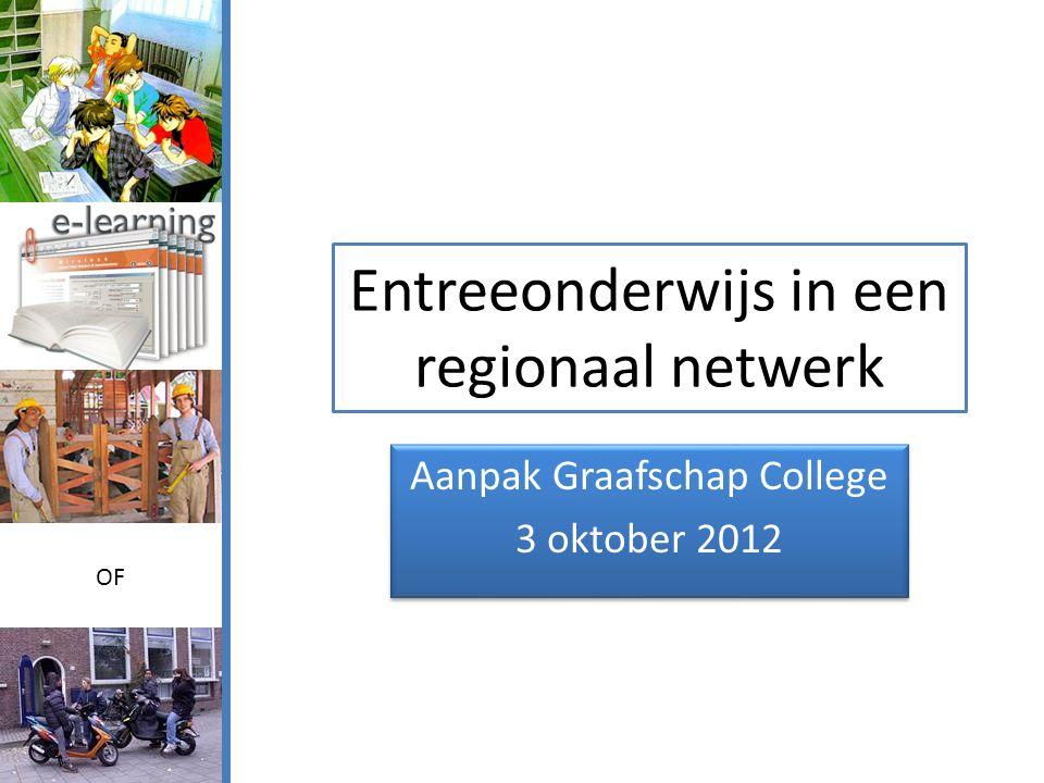Entreeonderwijs in een regionaal netwerk Aanpak Graafschap College 3 oktober 2012 Aanpak Graafschap College 3 oktober 2012 OF