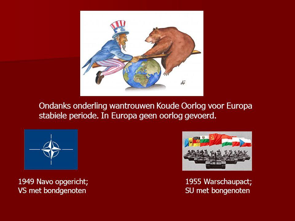 1949 Deling van Duitsland in: kapitalistische, democratische BRD en communistische DDR