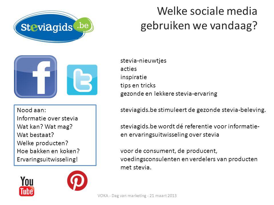 Welke sociale media gebruiken we vandaag.