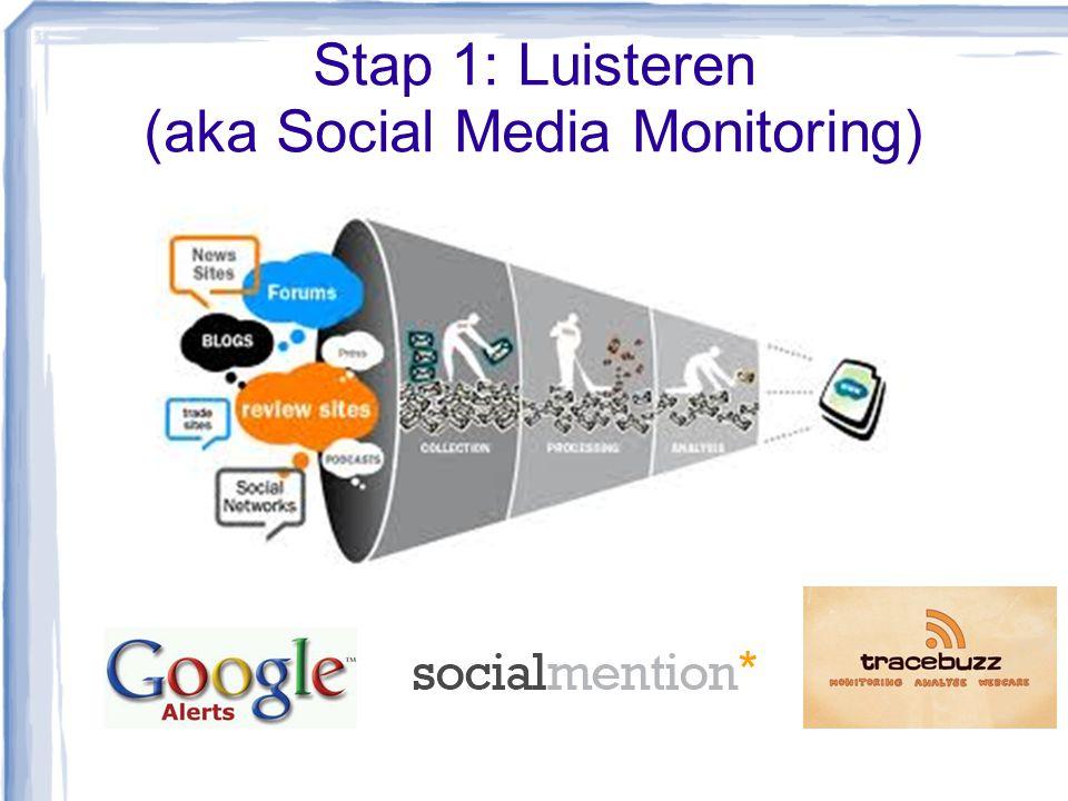 Stap 1: Luisteren (aka Social Media Monitoring)