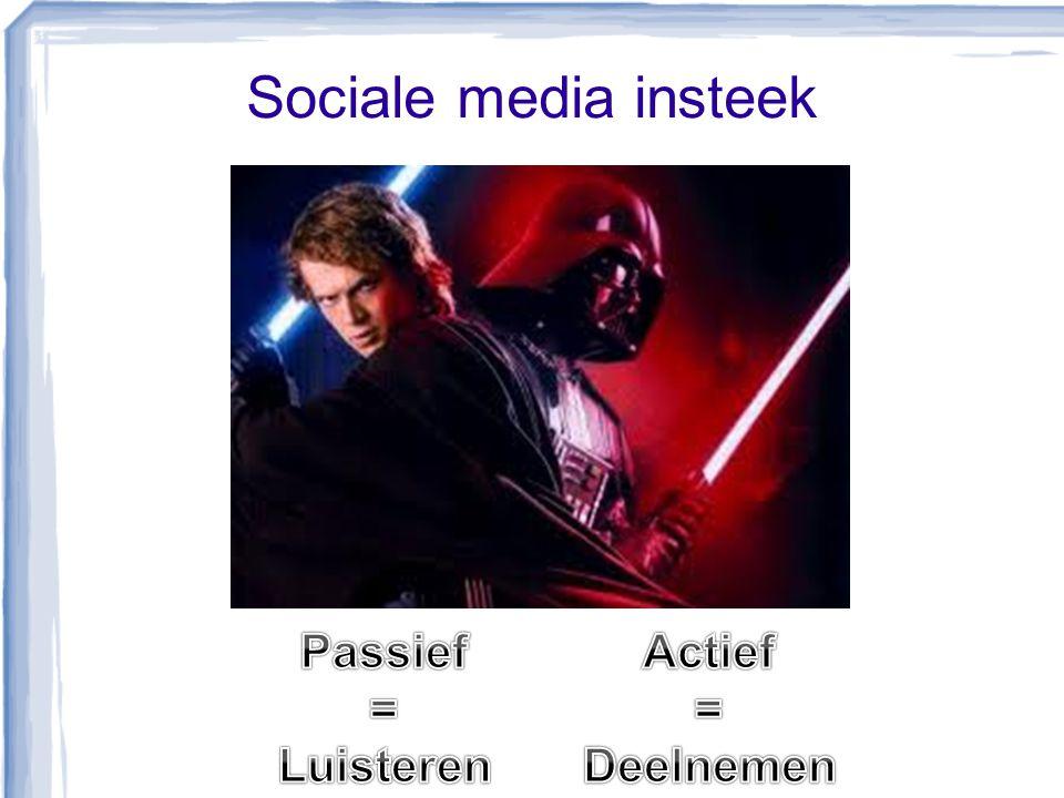 Sociale media insteek