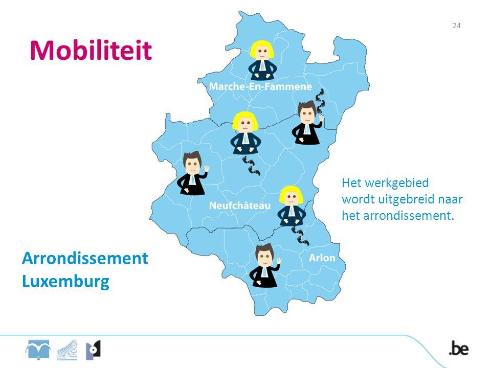 Mobiliteit Arrondissement Luxemburg Het werkgebied wordt uitgebreid naar het arrondissement. 24