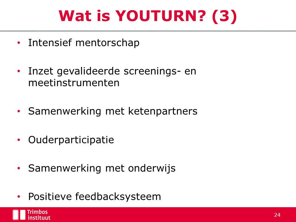 • Intensief mentorschap • Inzet gevalideerde screenings- en meetinstrumenten • Samenwerking met ketenpartners • Ouderparticipatie • Samenwerking met o