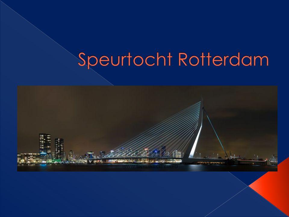 SPEURTOCHT! Ja, we gaan een speurtocht lopen door Rotterdam!