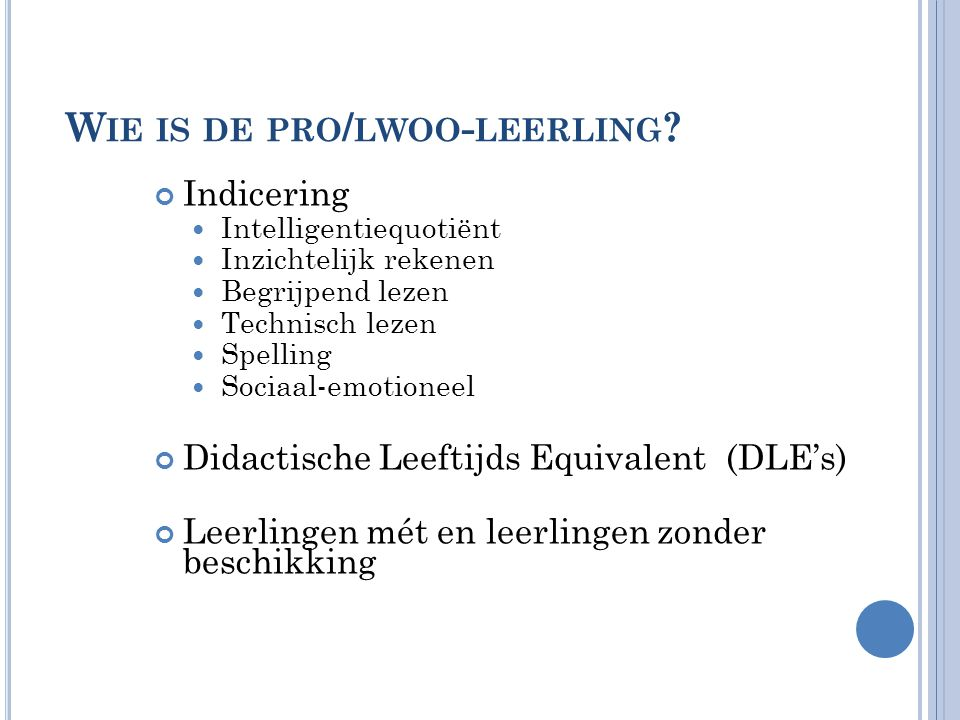 P ORTFOLIO Resultaten taaltoets Plan verbetering taalvaardigheid Leerdoelen en keuze thema's voor individueel ontwikkelingsplan Opdrachten per bijeenkomst Overige eindopdrachten: uitwerking twee thema's en handelingswijzer leerling(en) Reflectie op de module