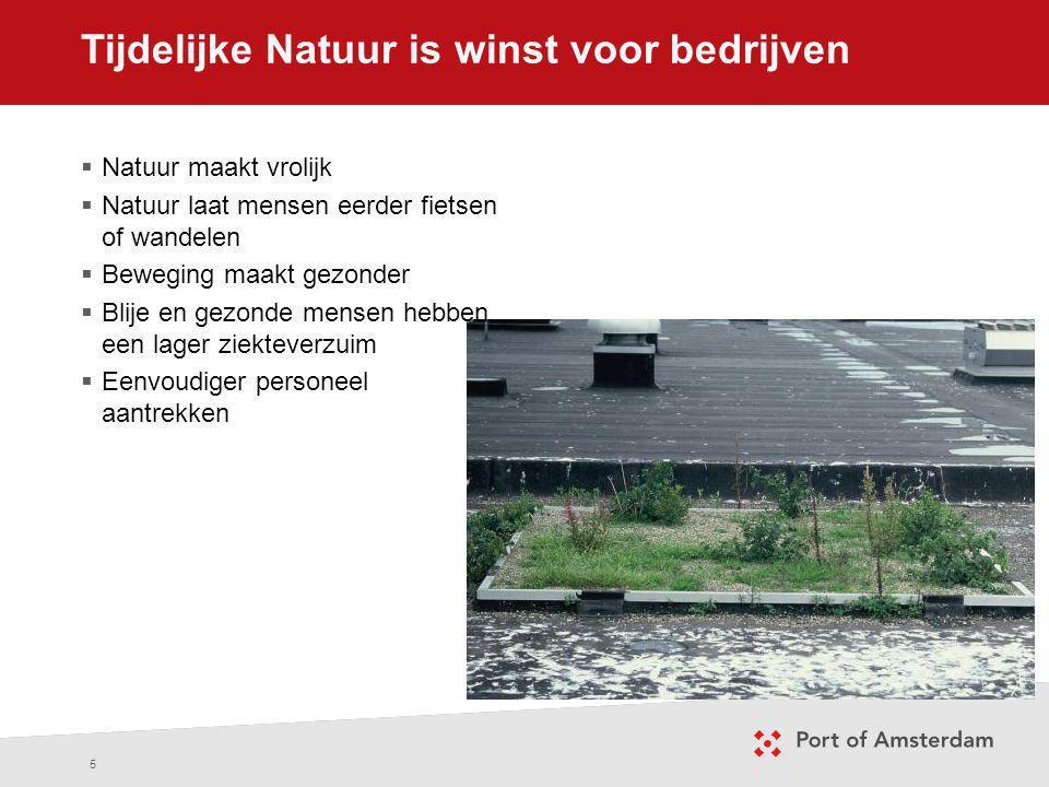 Tijdelijke Natuur is winst voor bedrijven 5  Natuur maakt vrolijk  Natuur laat mensen eerder fietsen of wandelen  Beweging maakt gezonder  Blije e