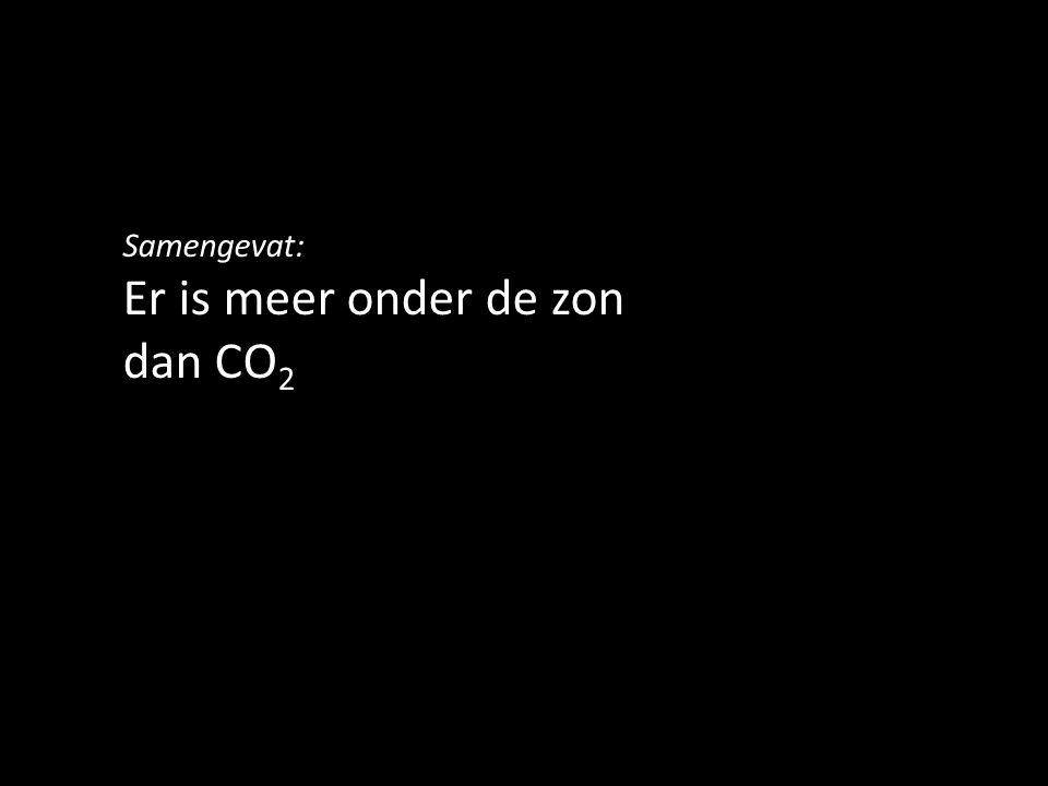 Samengevat: Er is meer onder de zon dan CO 2