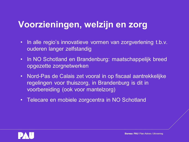Bureau PAU Plan Advies Uitvoering Voorzieningen, welzijn en zorg •In alle regio's innovatieve vormen van zorgverlening t.b.v.