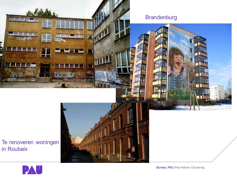 Bureau PAU Plan Advies Uitvoering Te renoveren woningen in Roubaix Brandenburg