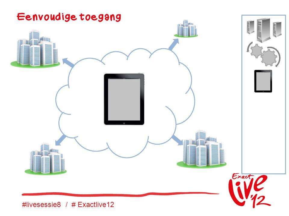 #livesessie8 / # Exactlive12 Eenvoudige toegang