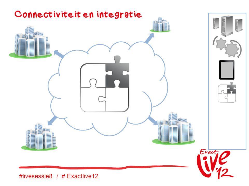 #livesessie8 / # Exactlive12 Connectiviteit en integratie