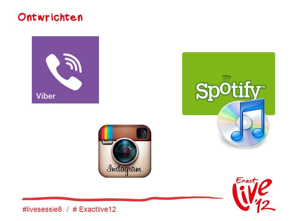 #livesessie8 / # Exactlive12 Ontwrichten