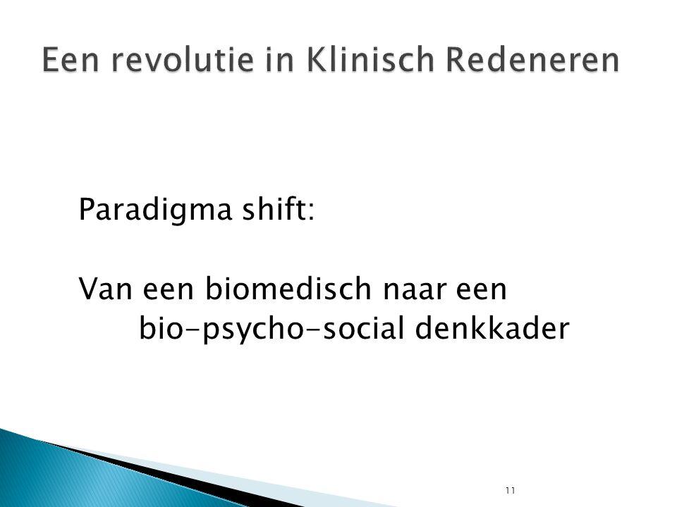 11 Paradigma shift: Van een biomedisch naar een bio-psycho-social denkkader
