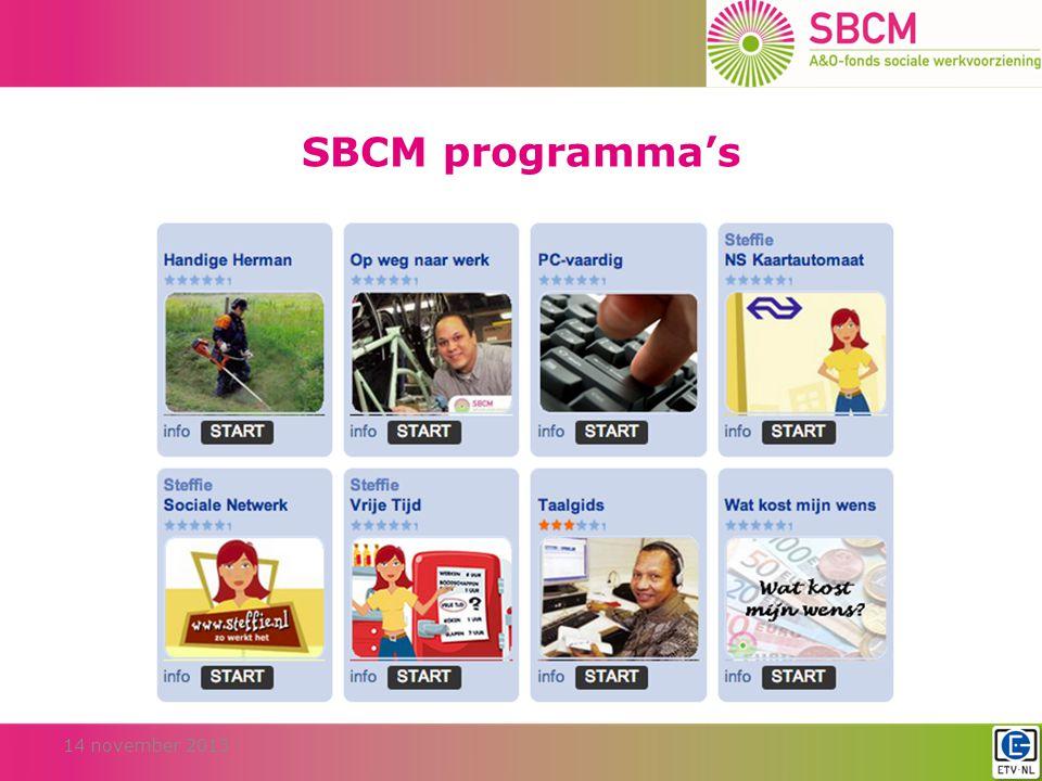 SBCM programma's 14 november 2013