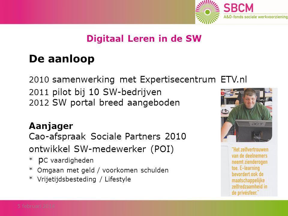 Digitaal Leren in de SW Interactieve programma's voor de SW • Handige Herman - post / verpakking / schoonmaak (2009) • Handige Herman – groen en Basis Veiligheid (november 2012) • Wat kost mijn wens.