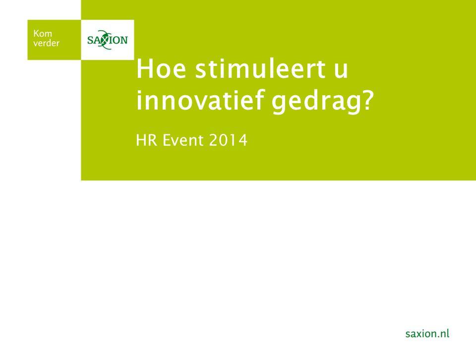 Hoe stimuleert u innovatief gedrag? HR Event 2014