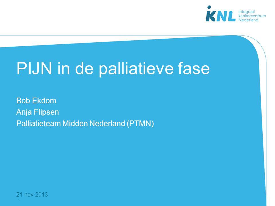 1 21 nov 2013 PIJN in de palliatieve fase Bob Ekdom Anja Flipsen Palliatieteam Midden Nederland (PTMN)