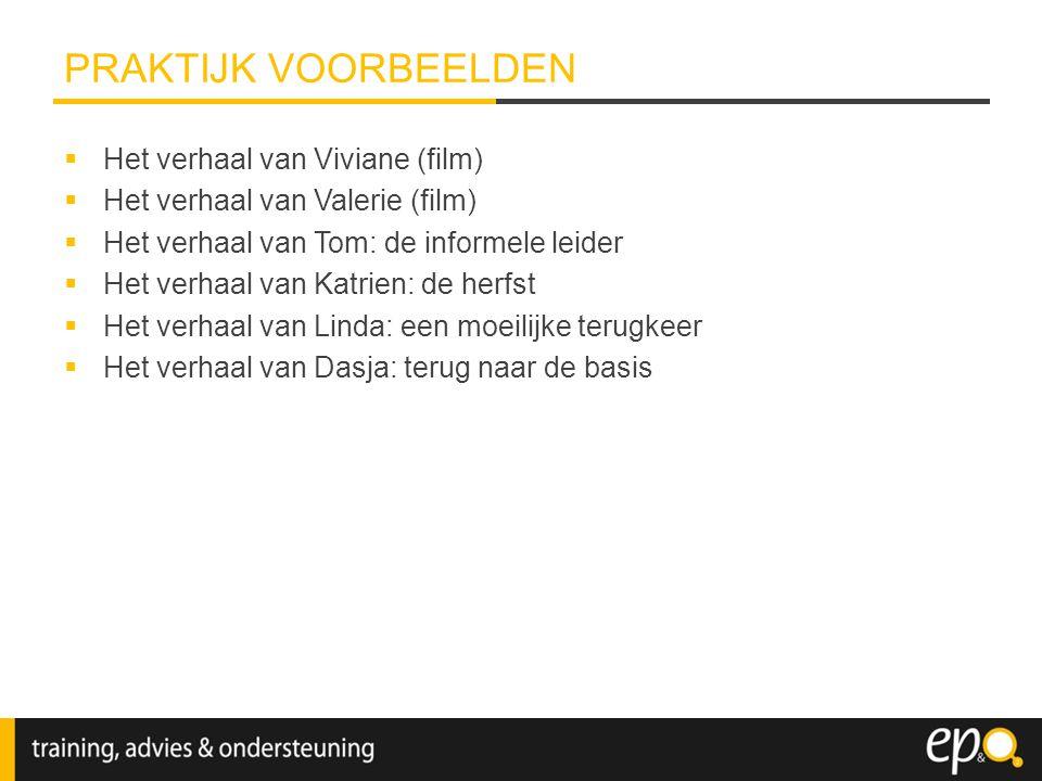  Het verhaal van Viviane (film)  Het verhaal van Valerie (film)  Het verhaal van Tom: de informele leider  Het verhaal van Katrien: de herfst  He