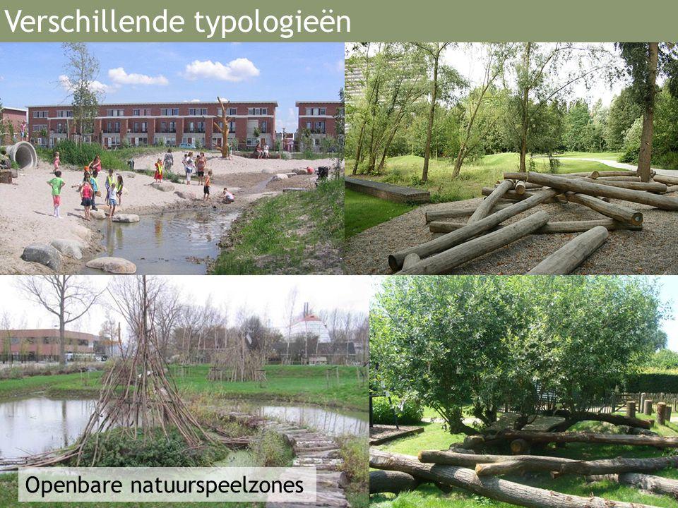 Openbare natuurspeelzones Verschillende typologieën
