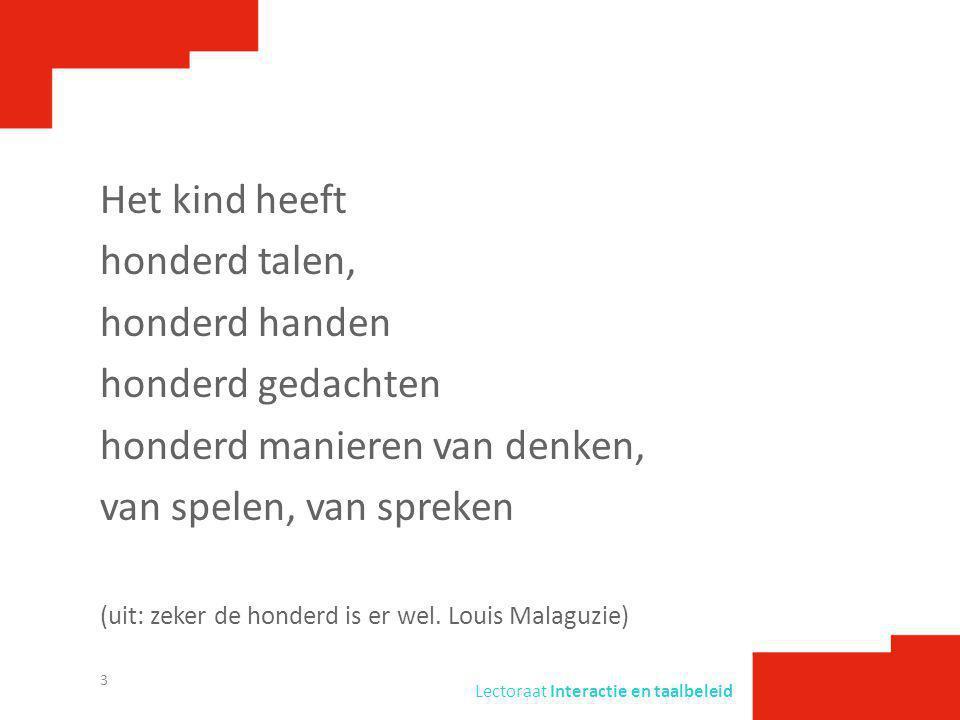 Lectoraat Interactie en taalbeleid Bronnen Damhuis, R., Blauw, A.