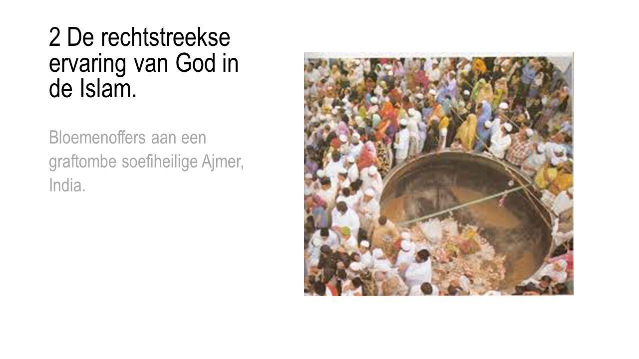 2 De rechtstreekse ervaring van God in de Islam. Bloemenoffers aan een graftombe soefiheilige Ajmer, India.