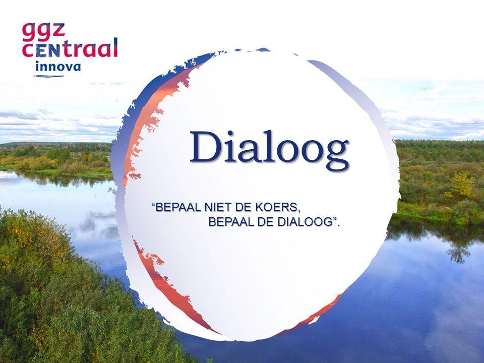 """Dialoog """"BEPAAL NIET DE KOERS, BEPAAL DE DIALOOG"""". BEPAAL DE DIALOOG""""."""