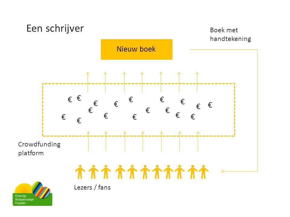Een schrijver Nieuw boek Crowdfunding platform Lezers / fans € € € € € € € € € € € € € € € € € € Boek met handtekening