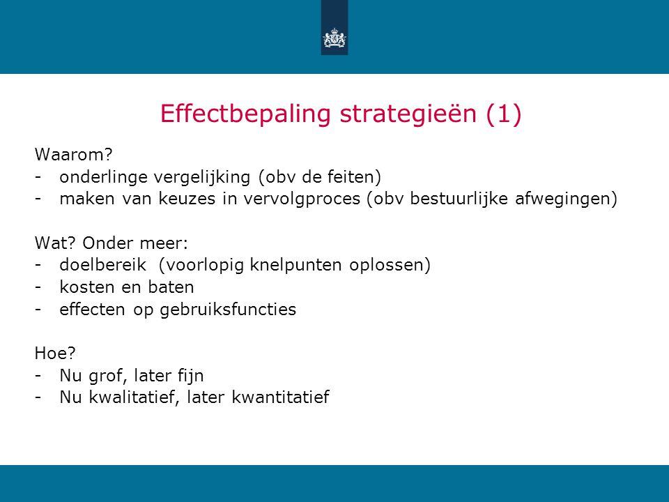 Effectbepaling strategieën (1) Waarom.
