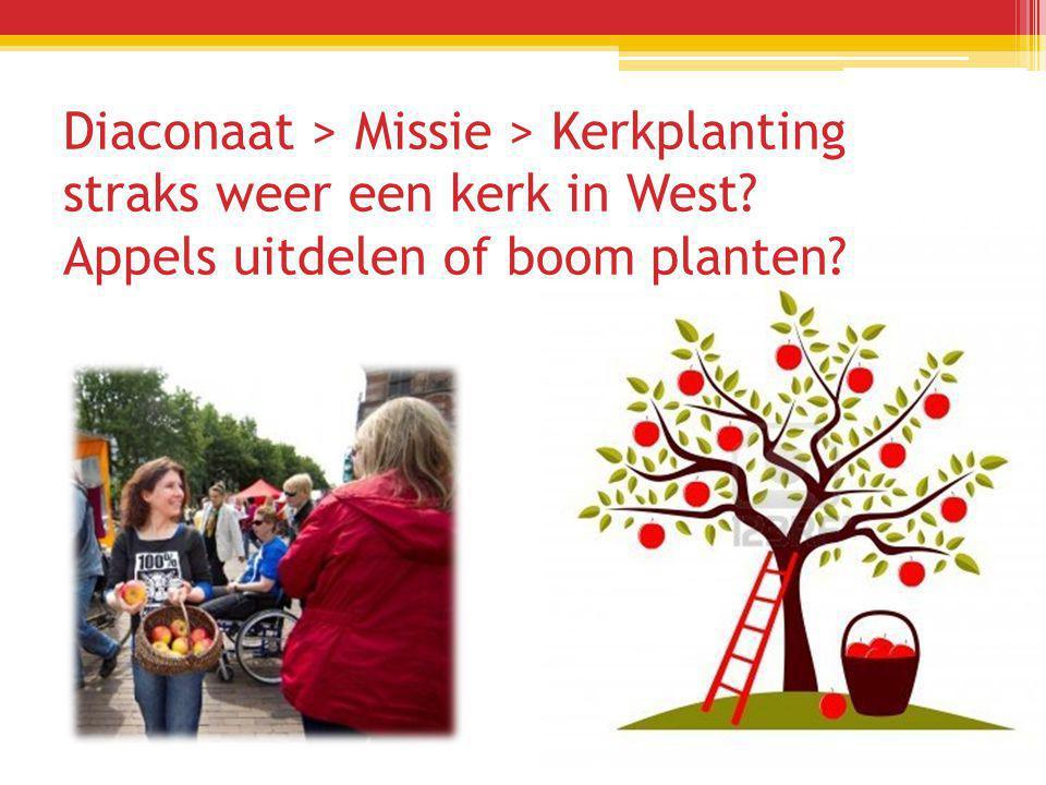 Diaconaat > Missie > Kerkplanting straks weer een kerk in West Appels uitdelen of boom planten